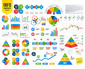 Infographic graph. Lamp idea and clock time icons. Graph chart diagram sign. Teamwork symbol. Financial chart. Time counter. Infographic vector