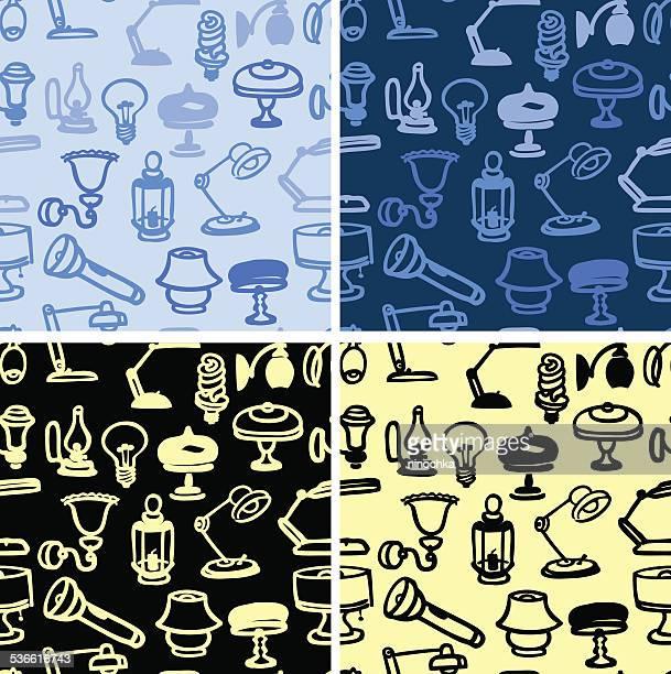 Lamp seamless patterns