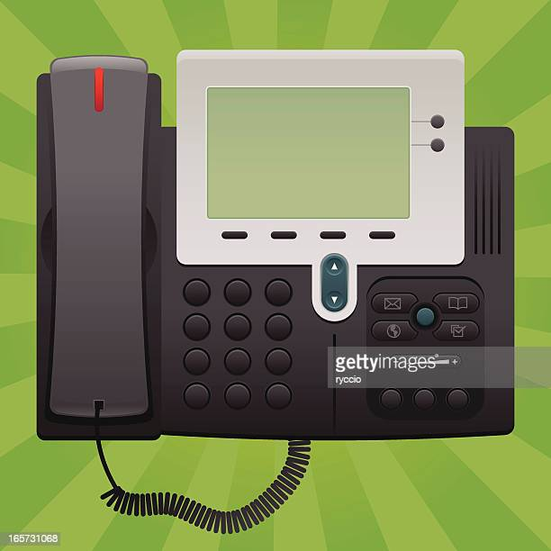Landline office phone, flat