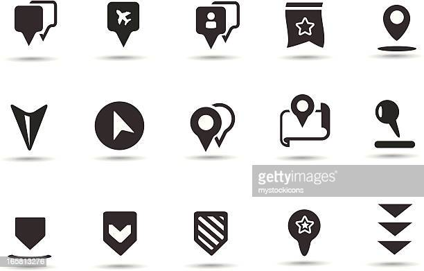 Landmark Pointer Icons