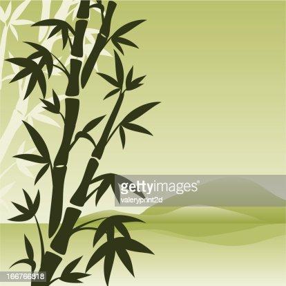 Landschaft Mit Bambus Vektorgrafik Thinkstock