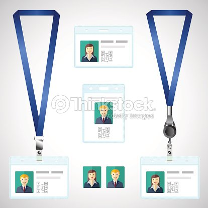 Lanyard name tag holder end badge id template vector art thinkstock lanyard name tag holder end badge id template accmission Gallery