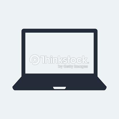 ic ne ordinateur portable cran plat clipart vectoriel thinkstock. Black Bedroom Furniture Sets. Home Design Ideas
