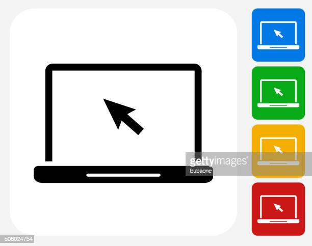 Laptop Icon Flat Graphic Design