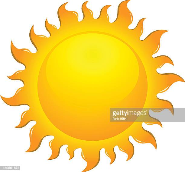Large bright yellow sun symbol