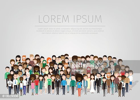 large group of people : Vector Art