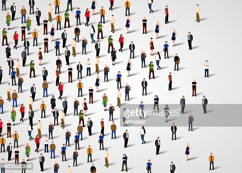 Large group of people. : Vector Art