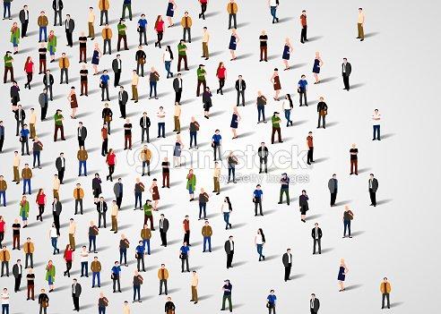 Large group of people. : arte vetorial