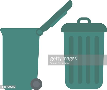 Large trash cans : stock vector