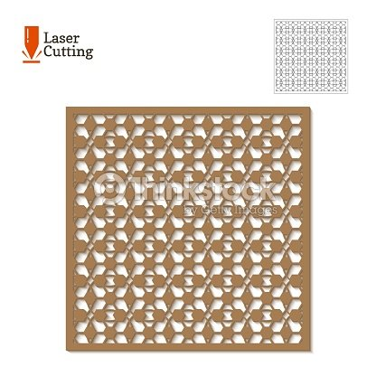Laser Cut Panel Vector Template For Printi On Laser Machine Art ...