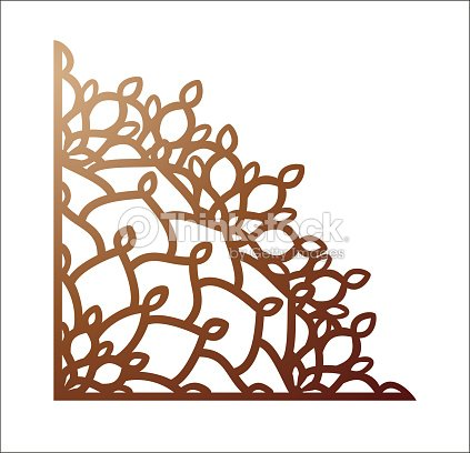 laser cutting corner vector template for paper cutting metal and
