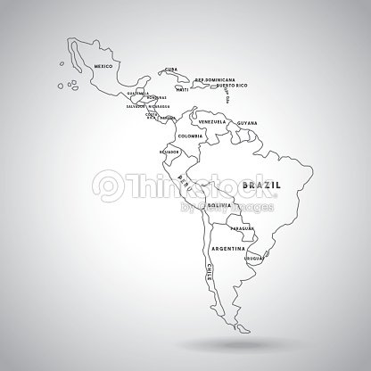 Latin America Map Vector Art Thinkstock