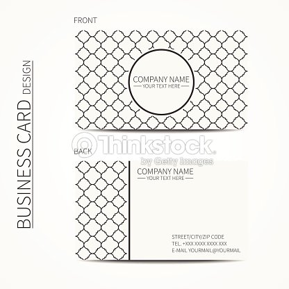 Lattice Business Card Template Oriental Style Business Card Calling ...