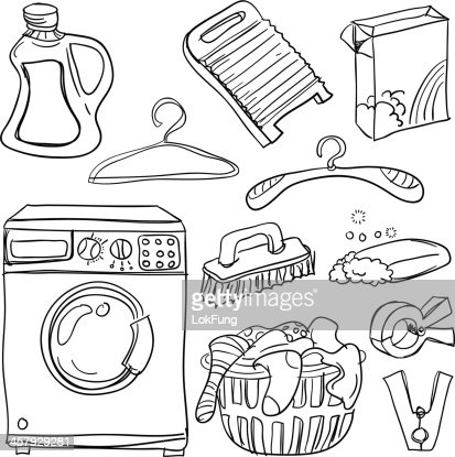 Laundry Clipart Black And White Room Clip Art Living Bath Kid R
