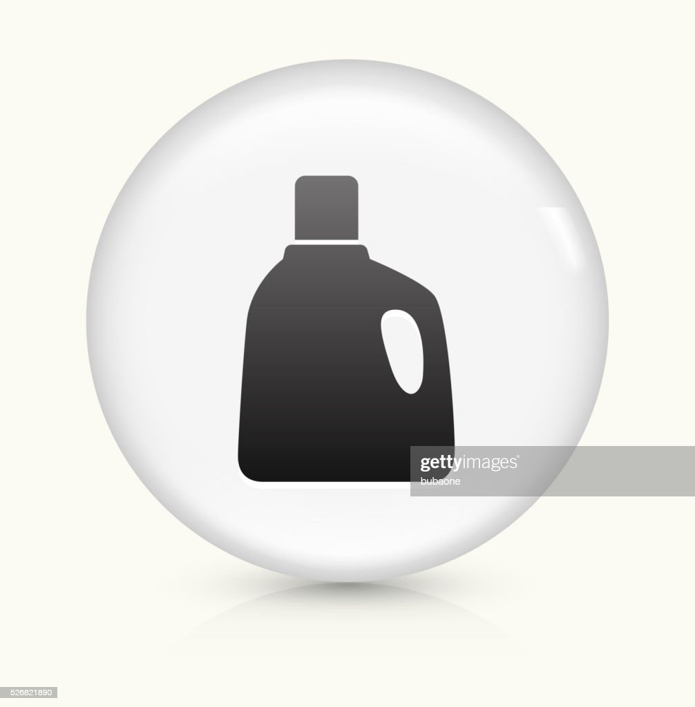 Laundry Detergent Icon On White Round Vector Button Vector