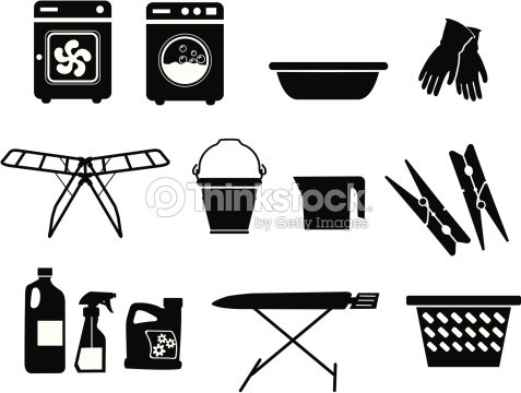 ic nes de la blanchisserie clipart vectoriel thinkstock. Black Bedroom Furniture Sets. Home Design Ideas
