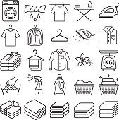 laundry service icons.