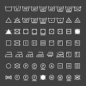 Laundry, washing symbols collection, eps10