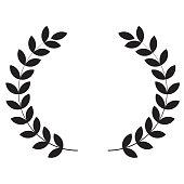 Laurel wreaths icon on white background. flat style. Laurel wreaths icon for your web site design, logo, app, UI. Simple flat symbol. Laurel sign.