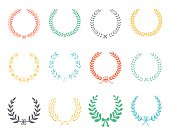 Laurel Wreaths Vector. Vector Collection of Laurels, Floral Elements and Banners.