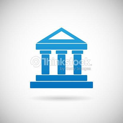 Law Court Bank Haussymbol Der Gerechtigkeit Finanzen Icon ...