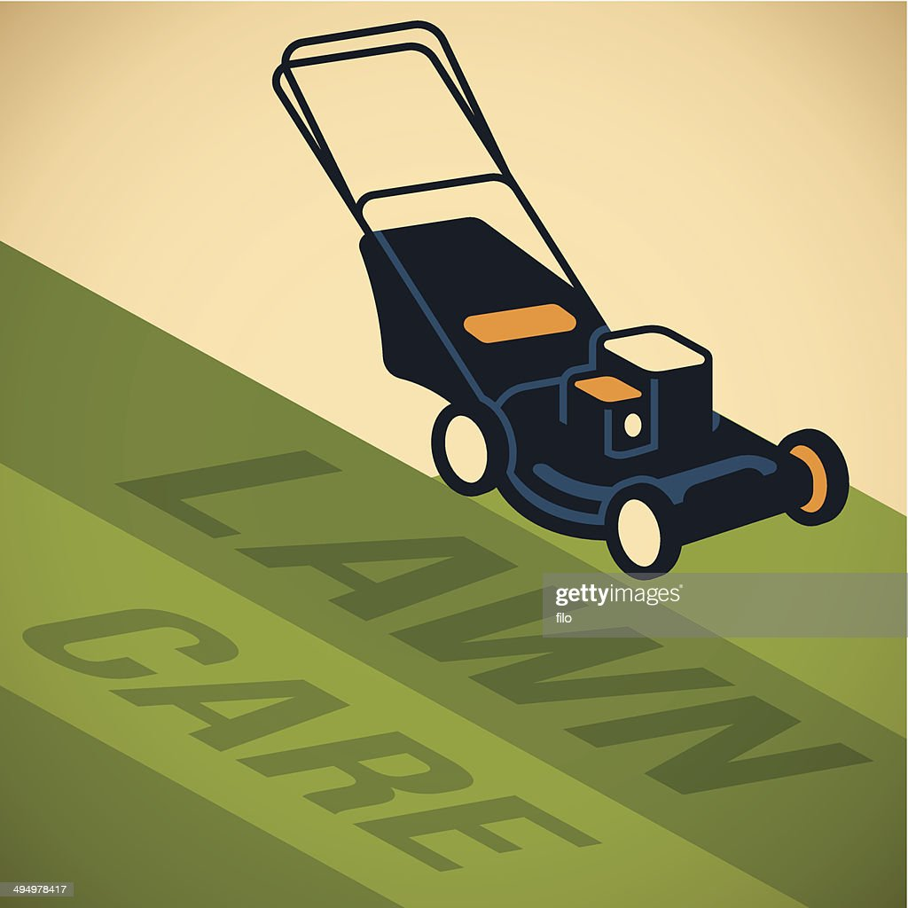 Lawn care vector art getty images for Lawn care vector