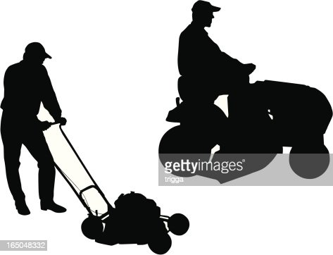 Lawn mowers vector art getty images for Lawn care vector