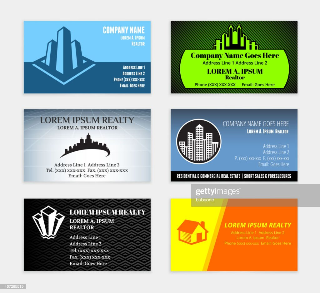 Lawyer Attorney Business Card Set Wtih Law Office Vector Art ...