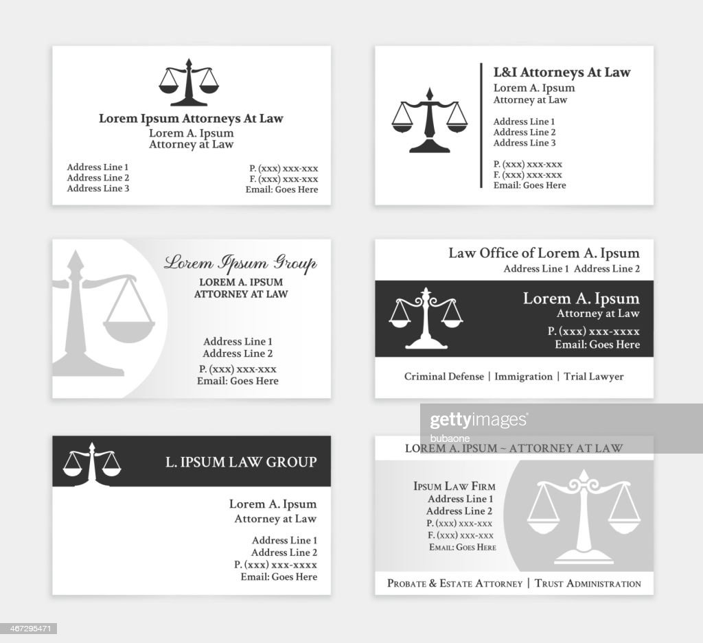 Lawyer Business Card Template Gallery - Templates Example Free ...