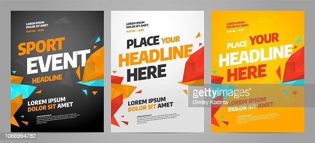 Layout poster template design for sport event : stock vector