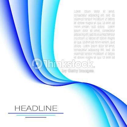 Diseño Con Ondas Abstractas De Colores Azul Brillantes Plantilla ...