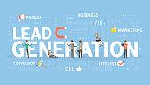 Lead generation concept illustration. Idea of merketing.
