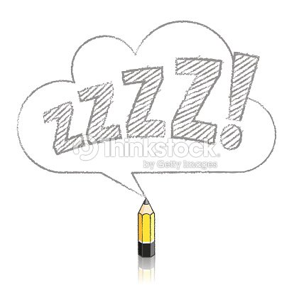 Lead Yellow Pencil Drawing Snoring Zs In Cloud Speech