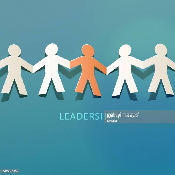 Leadership Concept Paper Cut