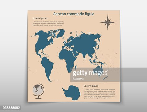 leaflet cover presentation abstract map geographic business, Presentation Abstract Template, Presentation templates