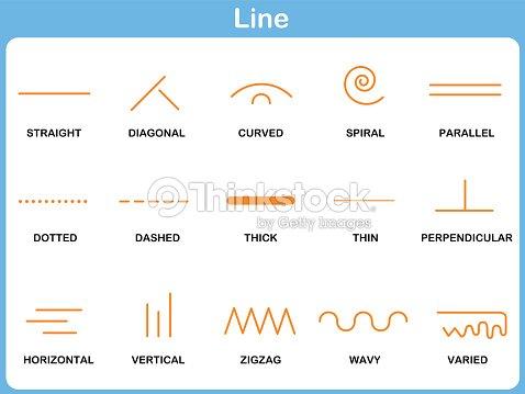 Leaning Line Worksheet For Children Vector Art | Thinkstock