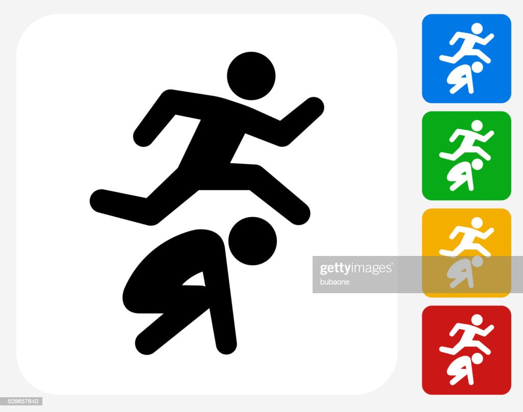 leap frog icon flat graphic design vector art getty images