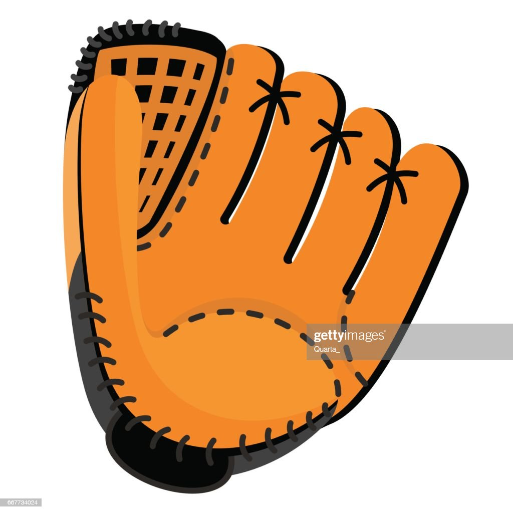 leather baseball glove vector art thinkstock rh thinkstockphotos com Baseball Bat Clip Art baseball glove clip art black and white