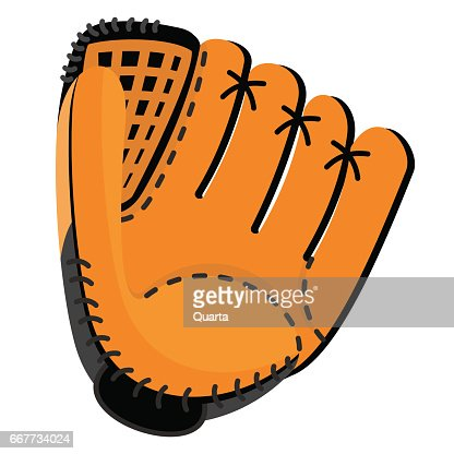 leather baseball glove : stock vector