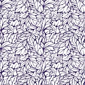 Leaves seamless pattern. Vector seamles pattern with leaves