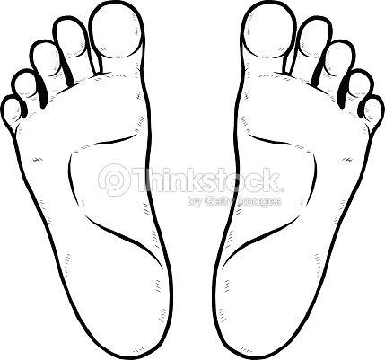Gauche et droite de la semelle clipart vectoriel thinkstock - Dessin de pied ...