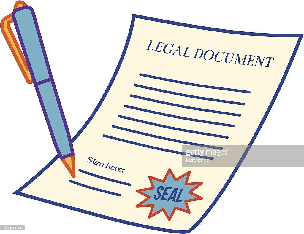 Legal Document Vector Art