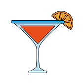 Lemon cocktail drink icon vector illustration graphic design