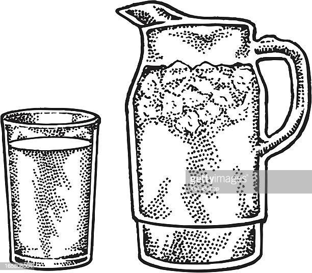 Lemonade or Ice Water - Pitcher and Glass