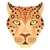 Leopard Head icon. Cheetah Vector decorative Emblem
