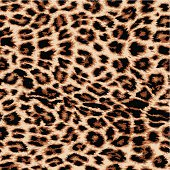 Realistic vector leopard print repeat pattern in four colours