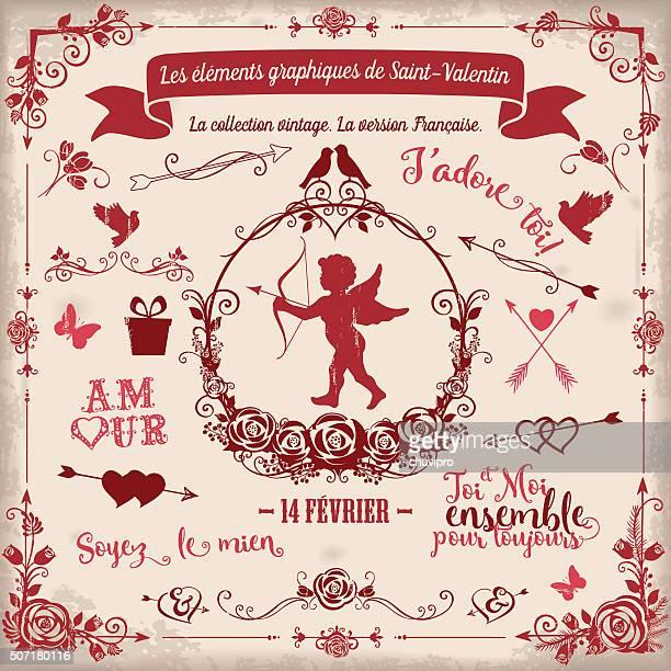 Les Éléments Graphiques de La Saint-Valentin