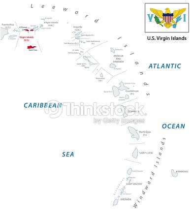 Kleine Antillen Karte.Kleine Antillen Uber Kartenansicht Mit Us Virgin Island