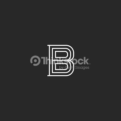 Monogramme Mdivale Lettre B Initial Pour Emblme Simple Carte De Visite Design Cratif Marque