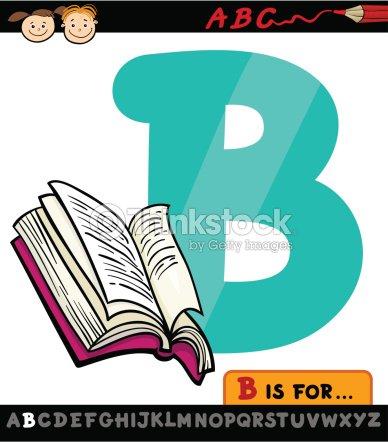 letra b com livro ilustração de desenho arte vetorial thinkstock